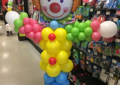 Small Clown Balloon Column