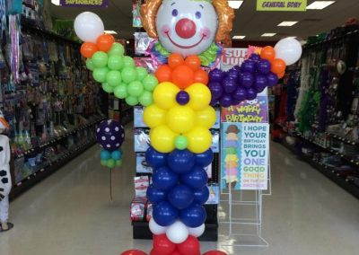 Large Clown Balloon Column
