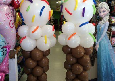 Ice Cream Cone Columns