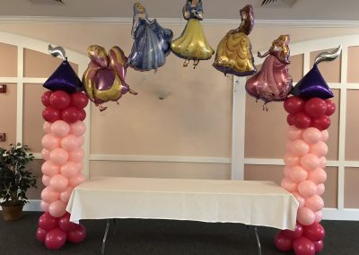 Princess Themed Column Arch